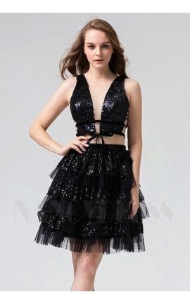 robe de cocktail noire courte
