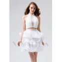 robe sexy blanc courte