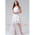 robes de cocktail blanc courte bustier