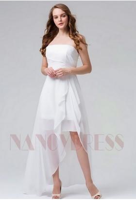 robes de cocktail blanc courte D089
