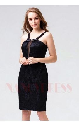 robes de cocktail noire courte