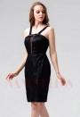 robes de cocktail noire courte D103
