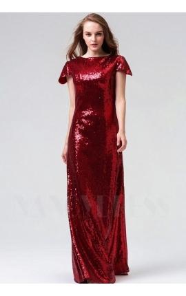 robe de soirée bordeaux long
