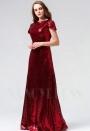 robe de soirée bordeaux long H100