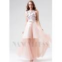 robe de soirée rose long
