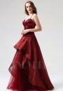 robe de soirée bordeaux long H086