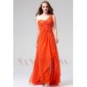 robe de soirée longue orange long