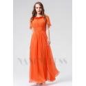 robe de soirée pas cher orange long
