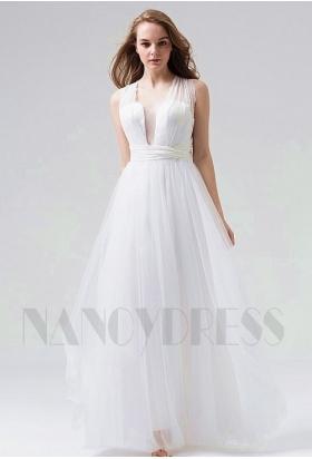 robe de soirée pas cher blace long H111