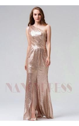 robe soirée Champagne long