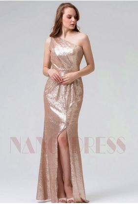 robe soirée Champagne long H102