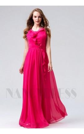 robes de soirée fuchsia long