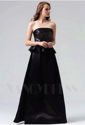 robes de soirée noire long H092