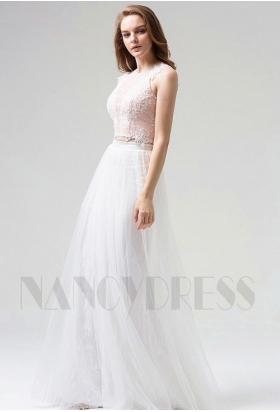 robes de soirée blace long H109