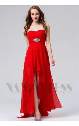 robes de soirée rouge feu long
