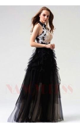robes soirée noire long