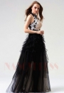 robes soirée noire long H089