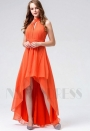 robes soirée orange long H117