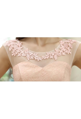 robe de cocktail rose bisque courte D106