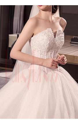 robe de marié princesse bustier blanc