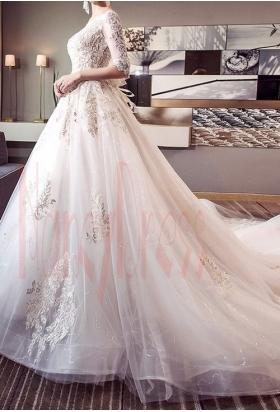 robe de mariée chic à manches longues