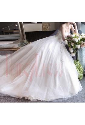 robe de mariée pas cher HS025 blanc