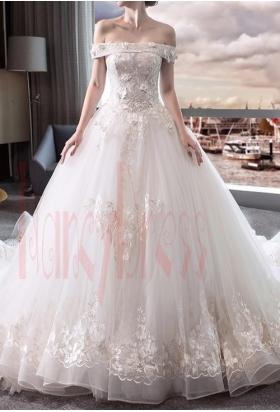 robe mariage HS029 blanc
