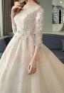 robe mariée HS026 Achampagne pâle