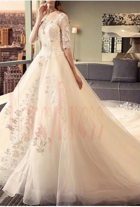robes de mariée HS024 Achampagne pâle