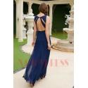 robe de bal bleu nuit dos nu