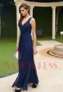 robe de bal bleu nuit dos nu H120