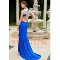 robe de cocktail bleu roi dos nu mariage luxe