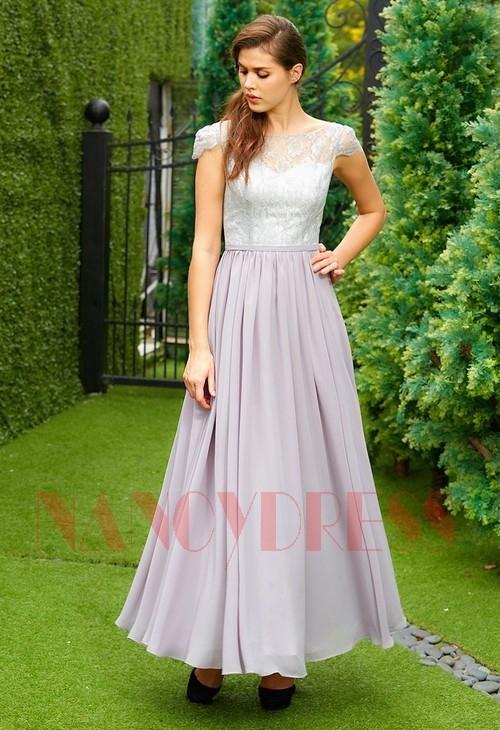 robe de cocktail long pour mariage H123