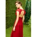 robe de cocktail rouge avec manches