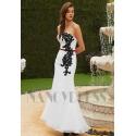 robe de soirée long noire et blanche