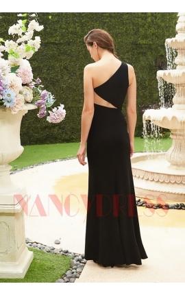 robe de soirée noir long moulante