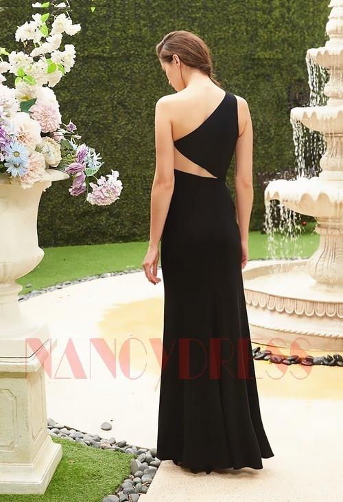 robe de soirée noir long moulante H130
