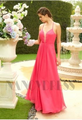 robe de soirée rose pour mariage H131