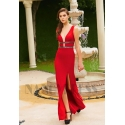 robe de soirée rouge moulante star