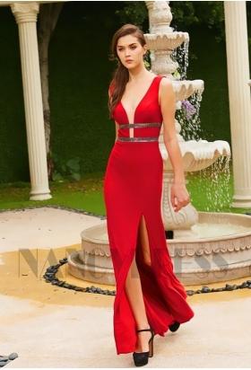 robe de soirée rouge moulante star H132