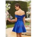 robe de cocktail mariage bleu