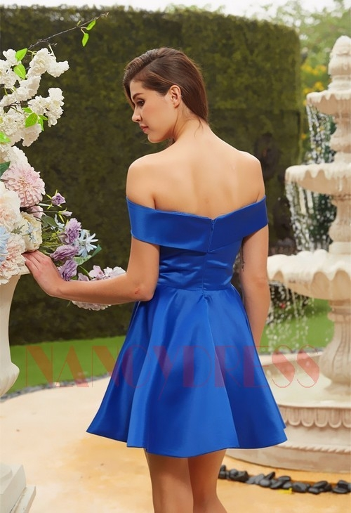 Robe de cocktail mariage bleu | Nancydress