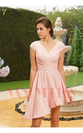 robe de cocktail rose