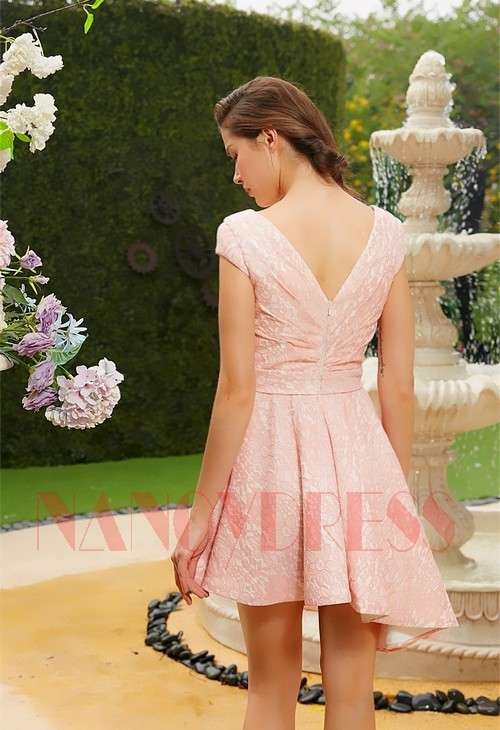 robe de cocktail rose D112