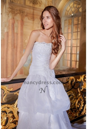 robe pour mariage blanc bustier