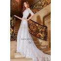 Robe de mariée manche longue avec traîne