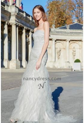 Robe de mariée bustier jupe froufrou en tulle