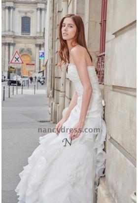 robe de mariée bustier jupe à volants