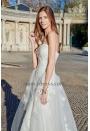 Robe de mariée blanc cassé A-Line avec traîne
