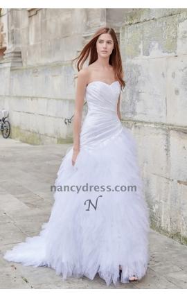 robe mariage sirène tulle bustier en cœur